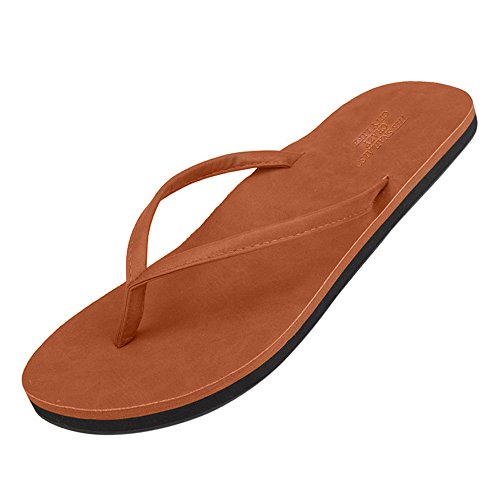 MILIMIEYIK Bath Slippers Summer Sandals,2019 Women Men Flat Shower Sandals Unisex Women's Flip-Flops Beach Leisure Shoes Brown ()