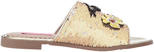 Betsey Johnson Womens Zorrokleding Sandaal Goud / Multi