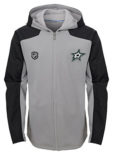 Outerstuff NHL Dallas Stars Youth Boys Delta Full Zip Jacket, X-Large(18), Magenta Pique Heather
