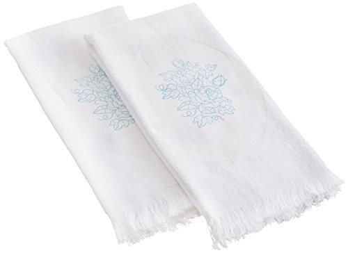 Dimensions Stamped Embroidery - Roses & Ivy Guest Towels