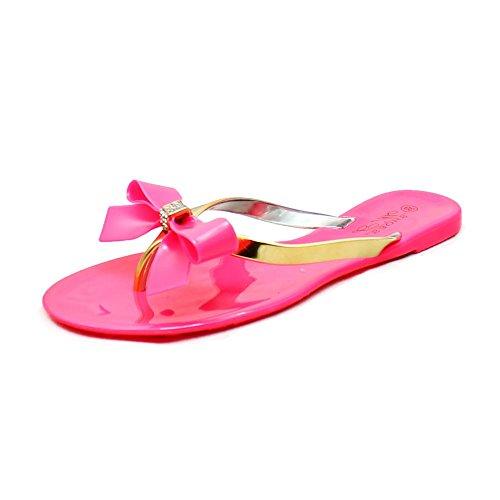 L'arco Flip Diamante Signore Flops Sandali Con Gelatina Pink EUnUq4wzXx