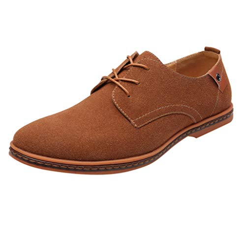 Zapatos Negro Casuales Cordones Blanco Negocios Riou Moda De Gris 44 Con Cuero 38 Hombre Oxford Caqui Sólido Sneakers Azul dA5wWq7