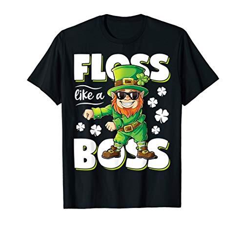 Leprechaun Floss Like A Boss Shirt St Patricks Day Boys Kids