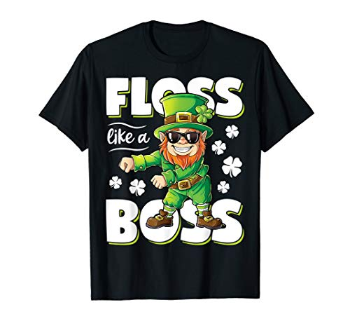 (Leprechaun Floss Like A Boss Shirt St Patricks Day Boys)
