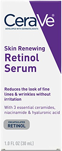 CeraVe Skin Renewing Cream Serum 1 oz Facial Moisturizer with Retinol