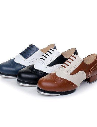 Heel Leather Dance Customizable color Multi Shoes Women's Non Tap ShangYi Grey Men's Low 01wqOPWz