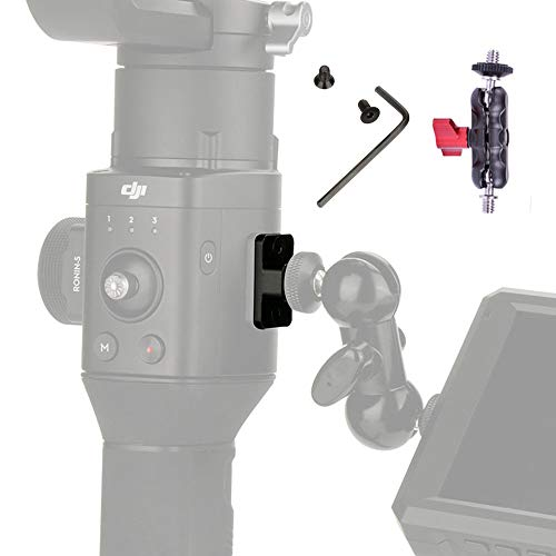 DF DIGITALFOTO Gimbal Accessories Monitor Mount, Mounting Plate Extend Port Hole with Mini Bean Monitor Clamp, Compatible DJI Ronin S Gimbal