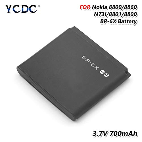 2PCS Replacement Battery,700mAh BL6X BL-6X Battery for Nokia 8800 8800 Sirocco N73I 8860 Replacement