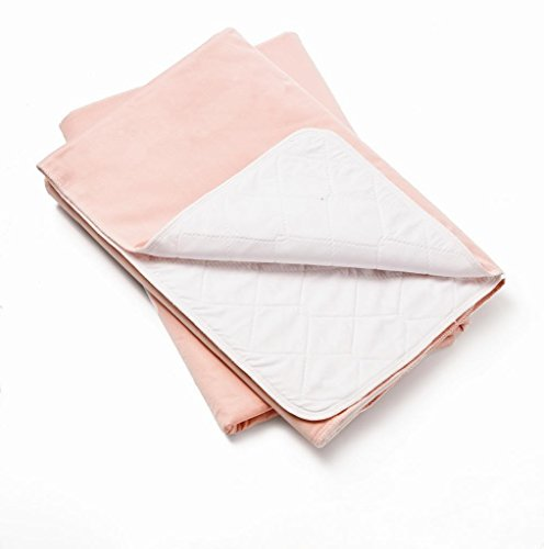 3 Pack, Bed Pad Standard Reusable Underpad Washable 34x36 Pink