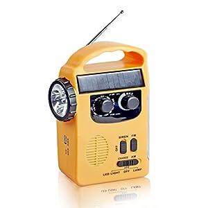 41Ayru2IXWL. SS300  - Semlos Solar Dynamo Emergency Radio Hand Crank AM/FM NOAA Radio with LED Flashlight and 500mAh Power Bank