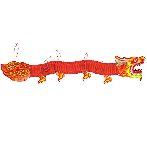 Big Mo's Toys Chinese Decorations - Asian Lunar New Year Paper Dragon Decoration for Party