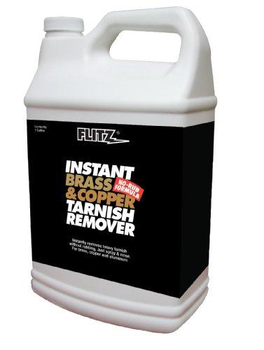 Flitz BC 01810 Instant Brass and Copper Tarnish Remover, 1 Gallon Refill Bottle