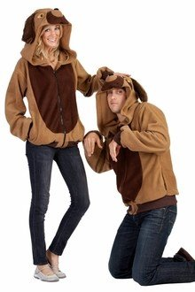 RG Costumes Men's Devin The Dog Hoodie, Brown/Tan, Small