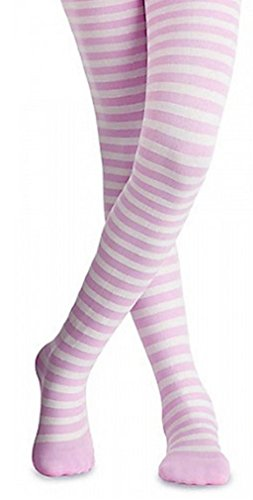LC Boutique Girls Bold Striped Footed Tights Size 2 to 10 years- 5 Color Combinations!! ()