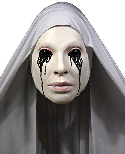 Latex Nun Costume (UHC Women's American Horror Story Asylum Nun Latex Mask Halloween Accessory)
