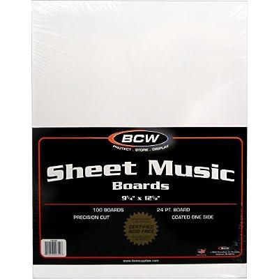 100 Sheet Music Size Backing Boards / Backers (9-1/4