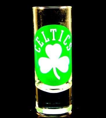 Boston Celtics NBA Licensed Glass Cordial Logo Hype Shot Glass (2 Oz.) Team Logo