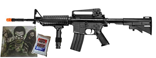 UKARMS 295 FPS M16 Assault Spring Airsoft Rifle Gun - w/ 6mm BBS and Target