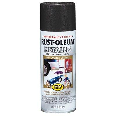 12 Oz Dark Bronze Metallic Stops Rust Spray Paint [Set of 6]