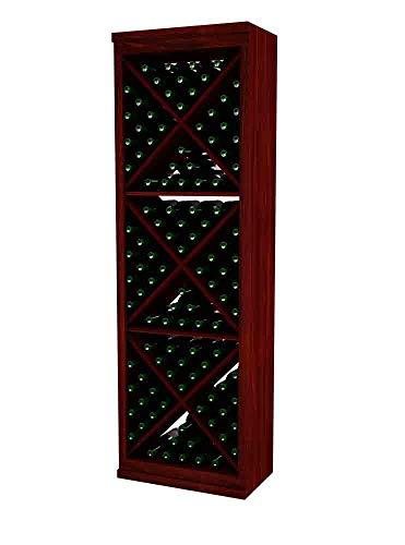 Designer Series Wine Rack - Solid Diamond Cube - 6 Ft - Premium Redwood Classic Mahogany Stain - No ()