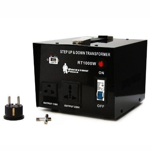 Price comparison product image Rockstone Power 1000 Watt Heavy Duty Step Up/Down Voltage Transformer Converter - Step Up/Down 110/120/220/240 Volt - 5V USB Port - CE Certified [3-Year Warranty]