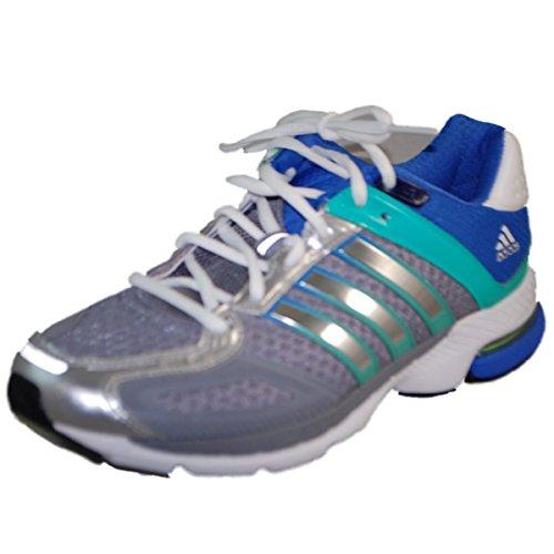 Adidas Womens Snova Sequenza 5 Scarpe Da Corsa Tech Grigio / Argento Metallizzato / Iper Verde
