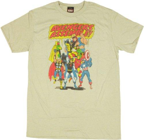 Marvel Team-Ups Men's Team Ups Team Avengers T-Shirt, Silver, XX-Large