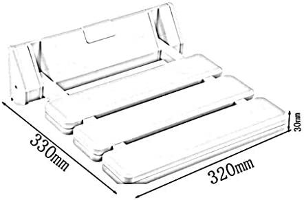 MJY Haushaltsprodukte Dongyd New Wandhalterung Duschbad Hocker Sitz Duschbank Klappsitz Badezimmer - für ältere Schwangere Rutschfeste Badestuhl Sicherheit Duschstuhl Armlehnen,Gelb,