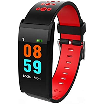 YLSYC Fitness Tracker Bluetooth Smart Heart Rate Sleep Monitoring Bracelet IP68 Waterproof Sports Calorie Counting Wristband Estimated Price £30.47 -