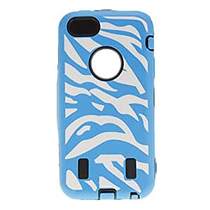 3-in-1 Design Zebra Print Pattern Protective Case for iPhone 5C (Assorted Colors) - COLOR#Rose