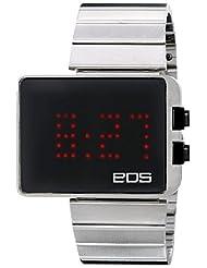 EOS New York Men's 352SBLK LEDW Mirror Display Digital Black Watch