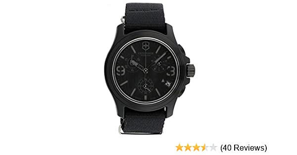 Amazon.com: Victorinox Swiss Army Black Dial Black Textile Chronograph Male Watch 241534: Victorinox: Watches