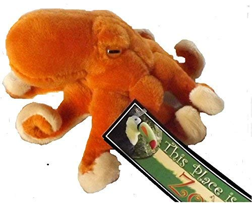 """This Place is a Zoo Octopus Finger Puppet - 5"""" Small Stuffed Toy Animal Octopus"""