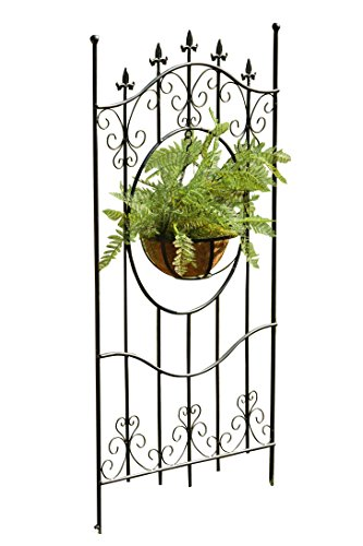 "Your Heart's Delight 27"" x 55"" x 3"" Wrought Iron Decorati..."
