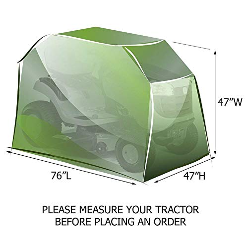 DMCSHOP Riding Garden Tractor Cover – Heavy Duty Outdoor Lawn Mower Cover 600D Polyester Oxford UV Protection, Waterproof with Storage Bag