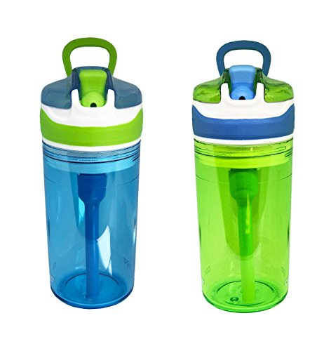 Contigo Kids 2 and 1 Snack Hero Kids Tumbler and Snack Cup- 13 oz - 2 pack - (Blue-Green)