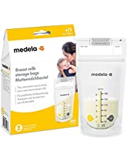 Medela Set of 180 ml Breast Milk Storage Bags - Pack of 25 BPA-free breast milk collection pouches with double zip, quick freeze and thaw