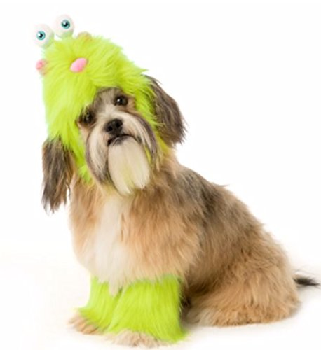 Pet Halloween Lime Green Fuzzy Monster Pet Costume Small Dog Puppy (Muppet Dog Costumes)