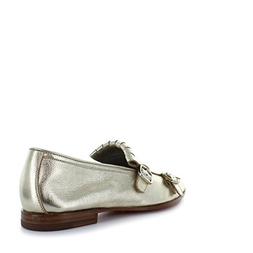 Santoni Women's Shoes Double-Buckle Gold Loafer Spring Summer 2018 under $60 online discount perfect cheap sale browse Cheapest cheap price buy cheap new arrival 5twlfvK