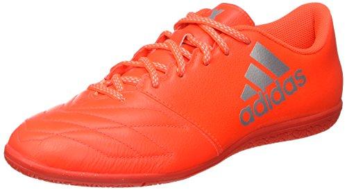 adidas Herren X 16.3 in Leather Fußball-Trainingsschuhe Orange (Solar Red/Silver Metallic/Hi-res Red)