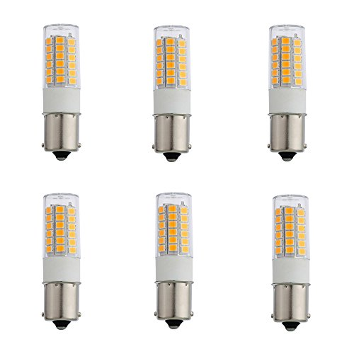 S Bayonet Single Contact Base,12V AC/DC LED Light Warm White for Auto Turn Signal Trail Lighting RV Camper Marine Cabin Boats Lighting,Outdoor Landscape Lighting Systems 6-Pack (Contact Bayonet Base)