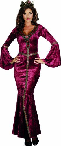 Dreamgirl Women's Come To Camelot Dress, Wine, (Camelot Costume)