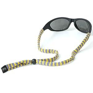 Chums Original Cotton Standard End Eyewear Retainer Striped Colors, Yellow & Grey