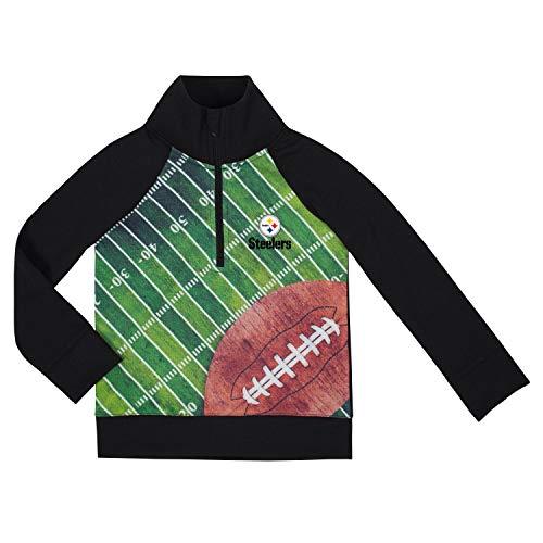 NFL Pittsburgh Steelers Unisex 1/4 Zip Shirt, Black, 2T
