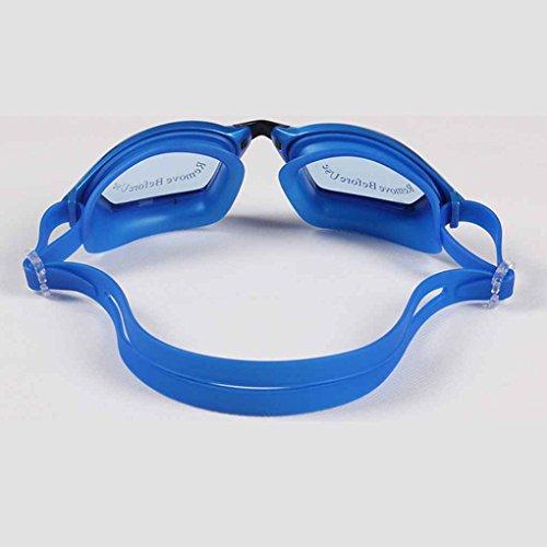 lidahaotin Uomini Donne placchi nuotata Occhiali impermeabile anti nebbia Protezione UV Lens Goggles Beach Surf Eyewear Outdoor nero wTklpv