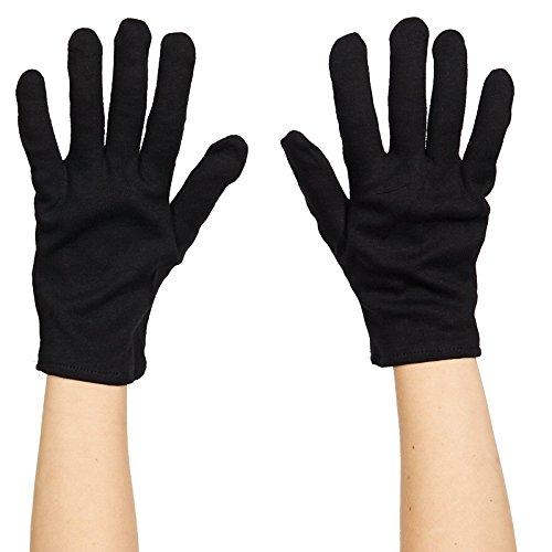 Black And Red Gloves (Rubies Costume Mens Black Cotton Gloves Accessory)