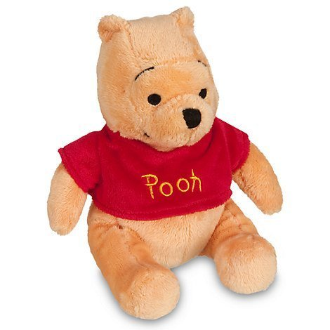 Toy Plush 7' Stuffed (Disney Winnie the Pooh Plush Mini Bean Bag Toy -- 7'')
