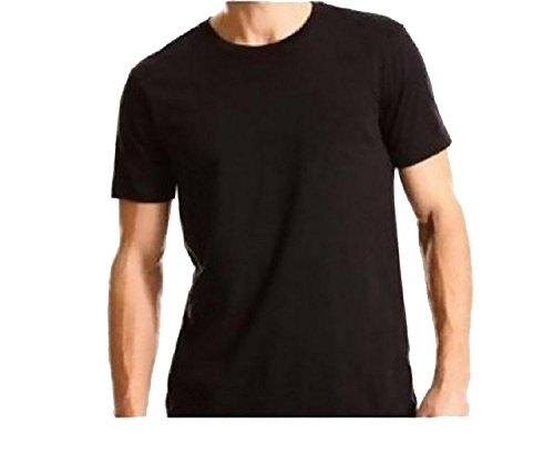 Kirkland Signature Mens Crew Neck T-Shirts 4 Pack, Black, Large