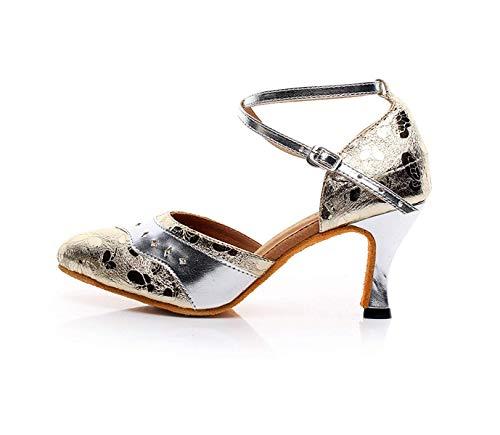 chacha À De Hauts Yingsssq samba tango Talons Metal chaussures Cross Strap Pour Criss Danse Femme modernes Jazz Chaussures Buckles Salsa q7H5C7T