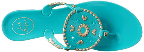 Jack Rogers Georgica Jelly, Infradito Donna Multicolore (Carib Blue/Gold)